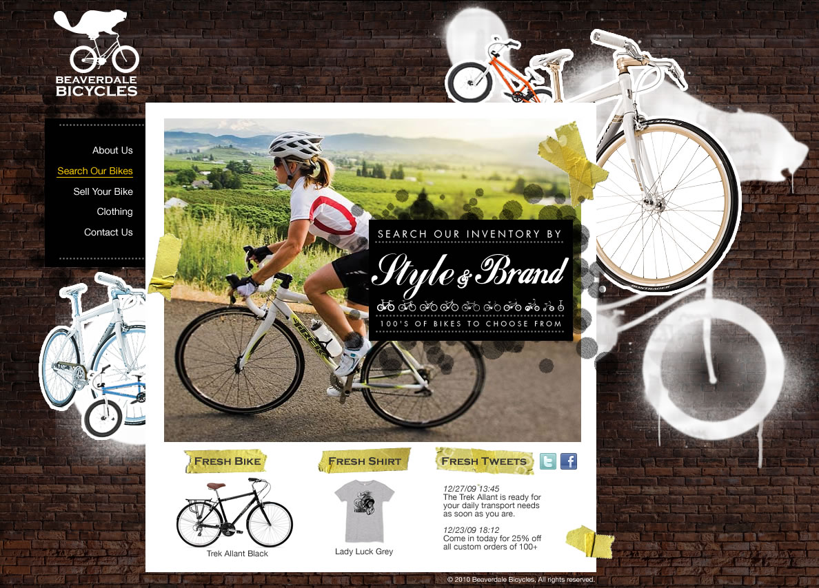 Beaverdale Bikes Website